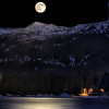 Full Moon over Payette Lake, McCall, Idaho