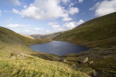 Small Water from Nan Bield Pass in the Cumbrian Lake District. England