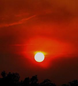 smoke filled sunset - Redding, CA
