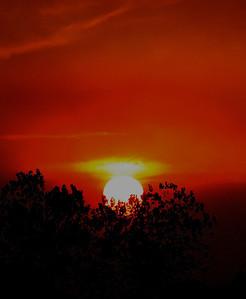 fire, smoke, sunset - Redding, CA