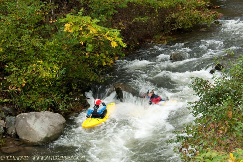 Kayaking in Nantahala River, NC.