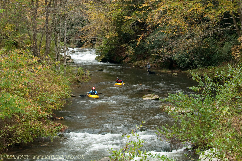 Kayaking in Nantahala River, NC.