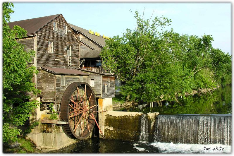 The Old Mill in Pigeon Forge - ate dinner here