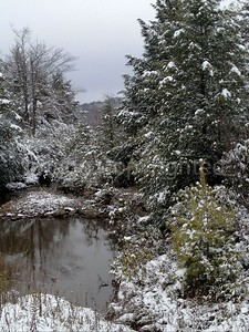 Pond and snow - 10/25/13