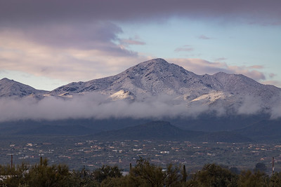 Snow on the Tucson Mountain Range