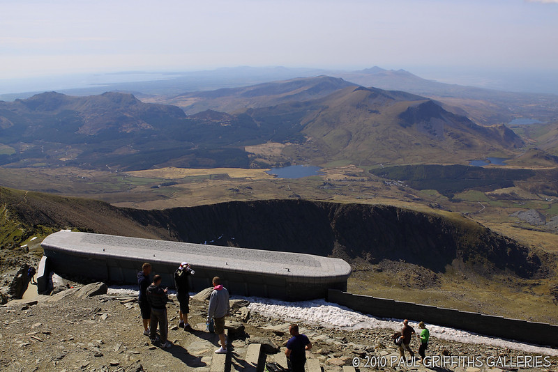 View from the peak with the mountain cafe in the forground