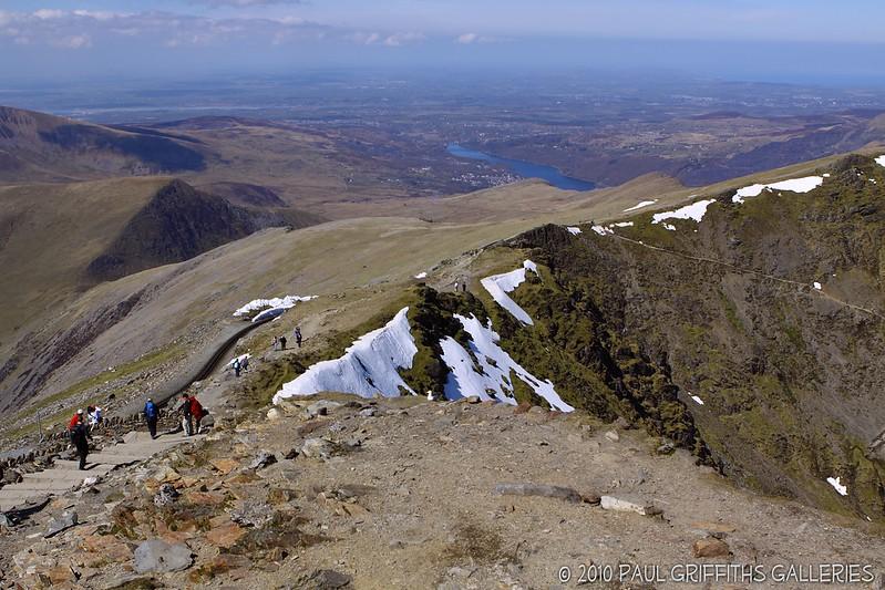 View from the peak looking back towards Llanberis