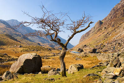 Llanberis Pass in the Snowdonia National Park, North Wales, UK - March 2009