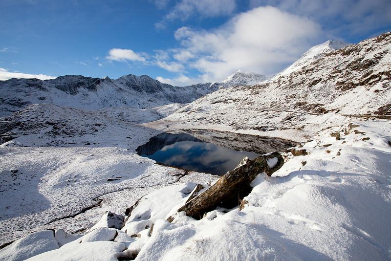 Snowdon over Llyn Teyrn
