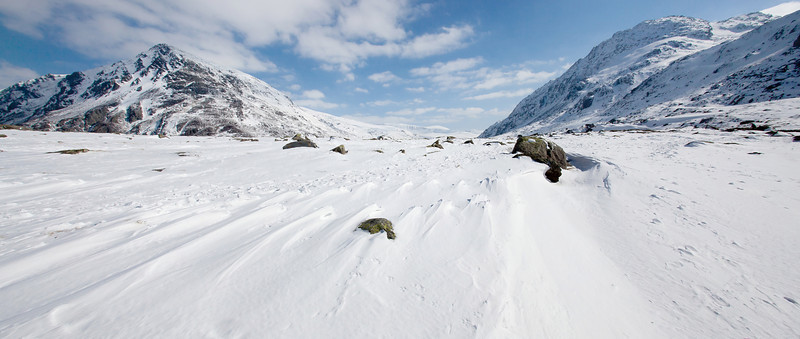 OGWEN SNOW PANORAMA 1013