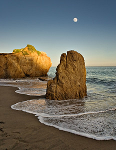 """Moon over El Matador Beach"" July 7, 2006 7:30 pm"