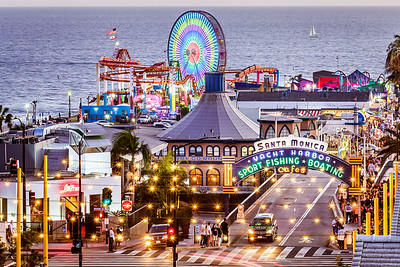 Santa Monica Pier at Ocean Avenue