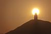 Sunrise over Glastonbury Torr taken from Wearyall Hill