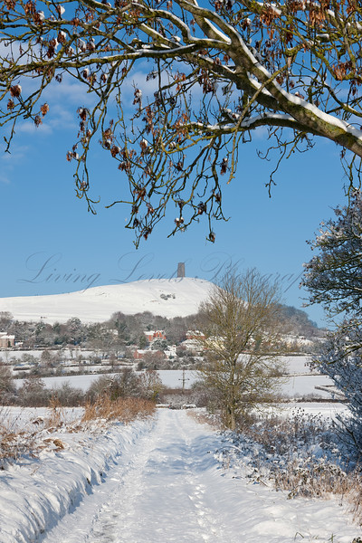 Glastonbury Tor after the snow