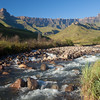 Drakensberg - Amphitheatre Early Morning, Tugela River