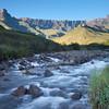 Drakensberg - Amphitheatre Sunrise 3, Tugela River