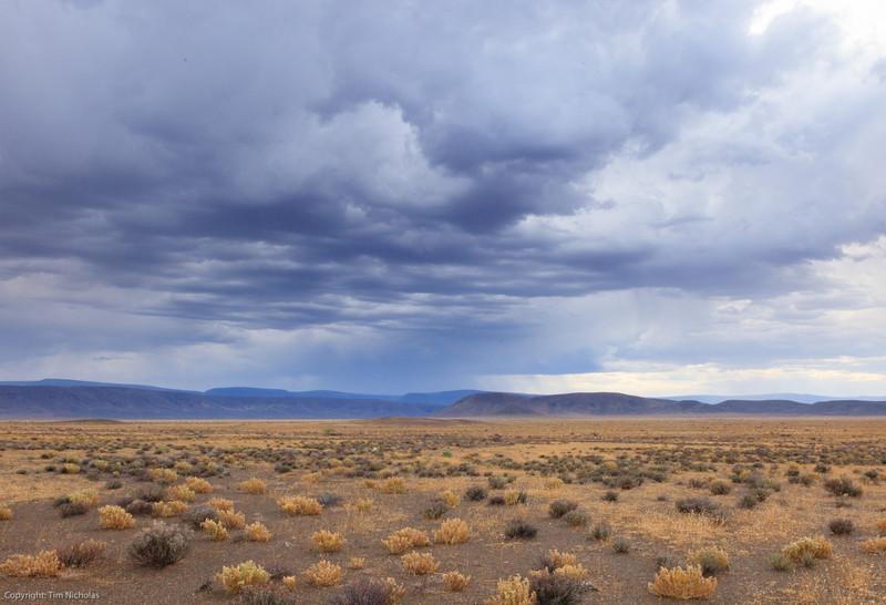 Tankwa Karoo National Park, early morning  approaching storm, near Volmoersfontein