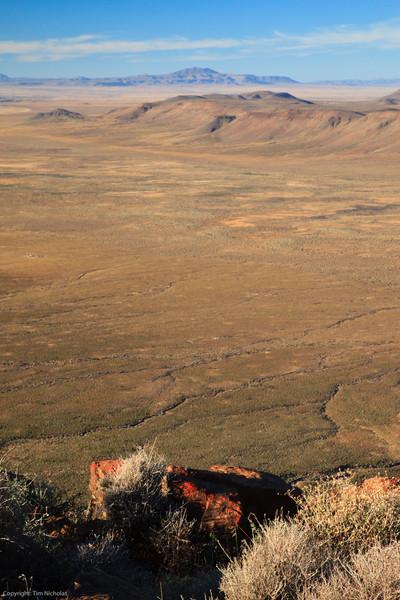 Early morning looking out from Elandsberg lookout, Tankwa Karoo National Park
