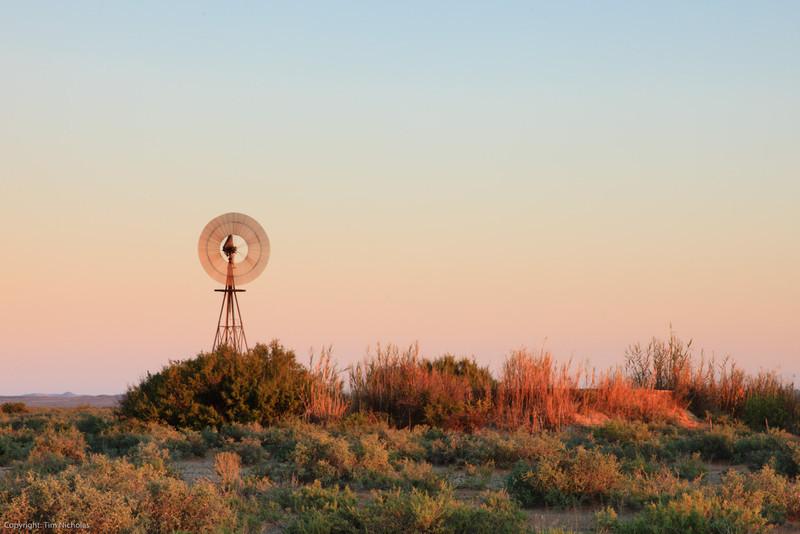 Karoo Windmill  at sunrise, Kambro farm