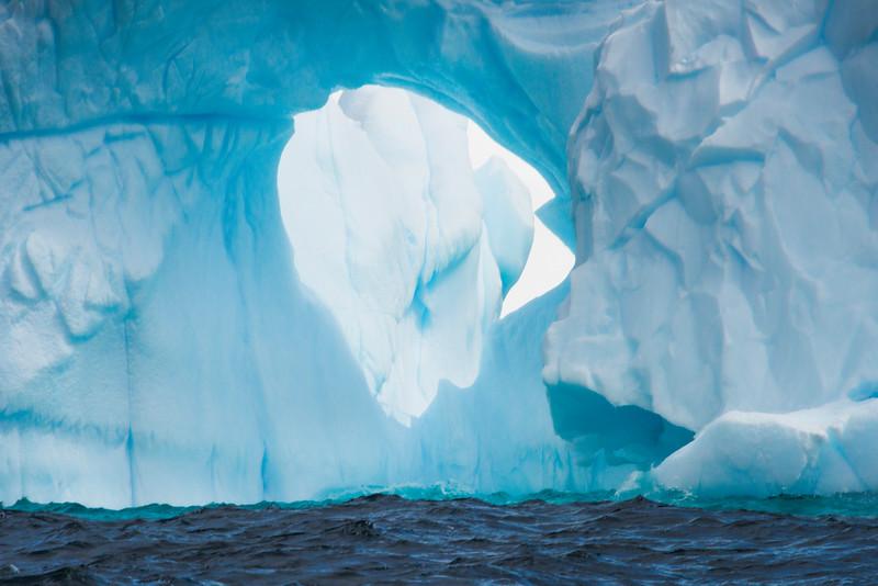 Deep Inside The Iceberg Arch Hole