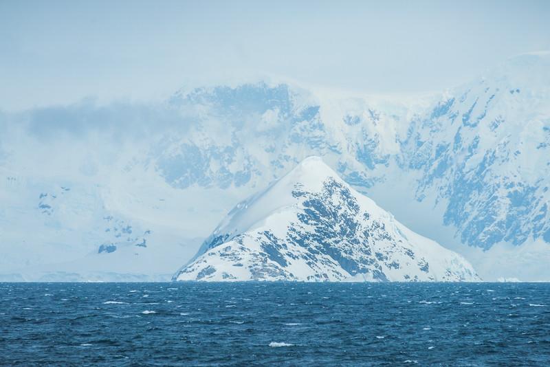 Triangle Shaped Island Near Range -  Cuverville Island, Antarctica