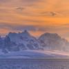 Glowing Alpenglow Iceberg Foreground