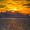 As The Sun Falls Behind The Antarctic Mountains