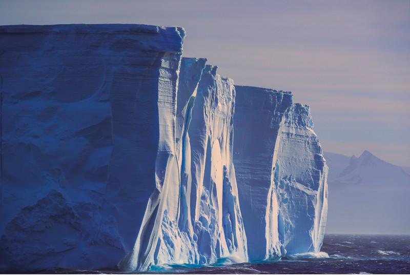 Last Side Light On Iceberg