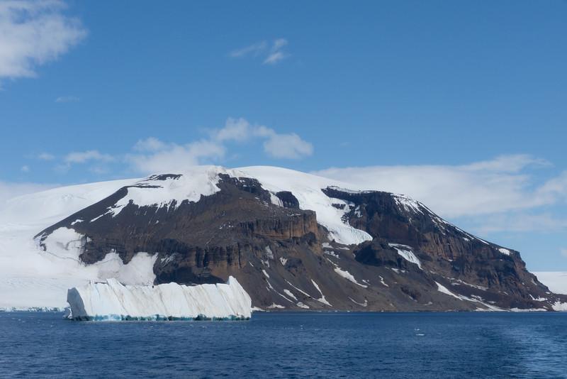 Brown Bluff From Ship -  Brown Bluff, Tabarin Peninsula,  Northern Antarctica