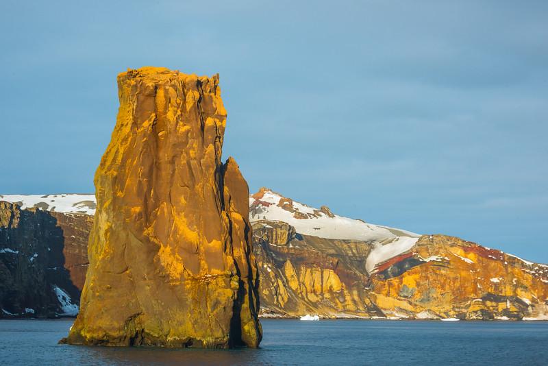 Colorful Rocks Heading Into Deception Island