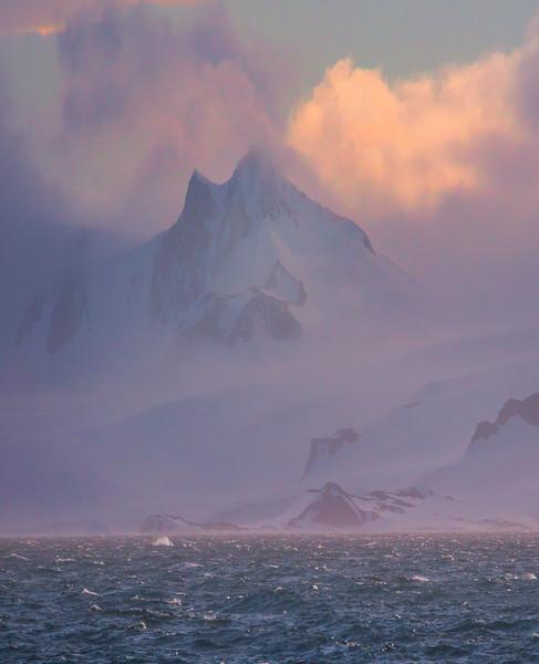 Shrouding Mist Around The Peak - Iceberg Alley , Hope Bay,  Antarctica Sound,  Antarctica