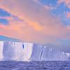 Giant Iceberg Under The Sunset - Iceberg Alley , Hope Bay,  Antarctica Sound,  Antarctica