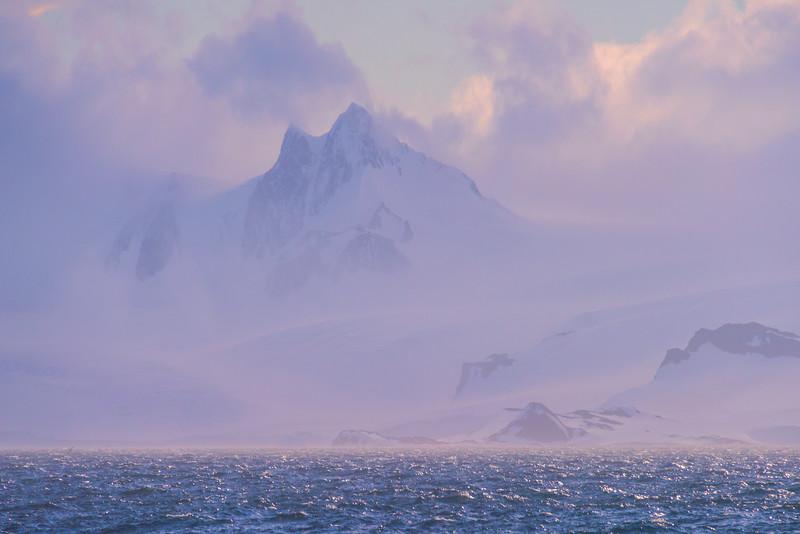 Mystery Of Snow Peak and Fog - Iceberg Alley , Hope Bay,  Antarctica Sound,  Antarctica