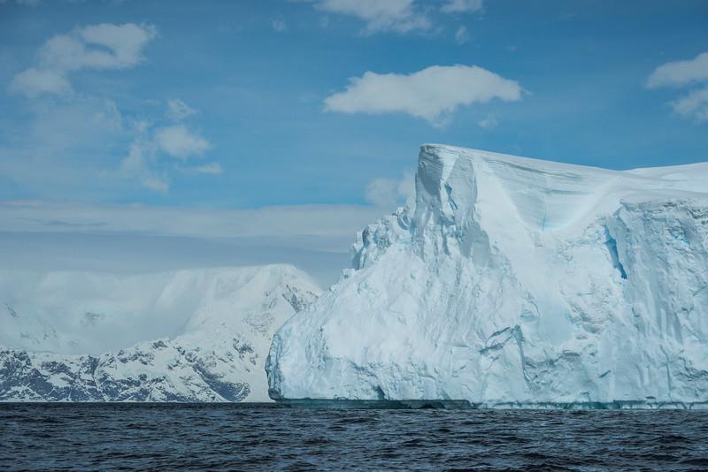 Colliding Icebergs At Sea
