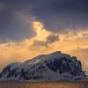 Dark Warm Clouds Setting Over Hope Island