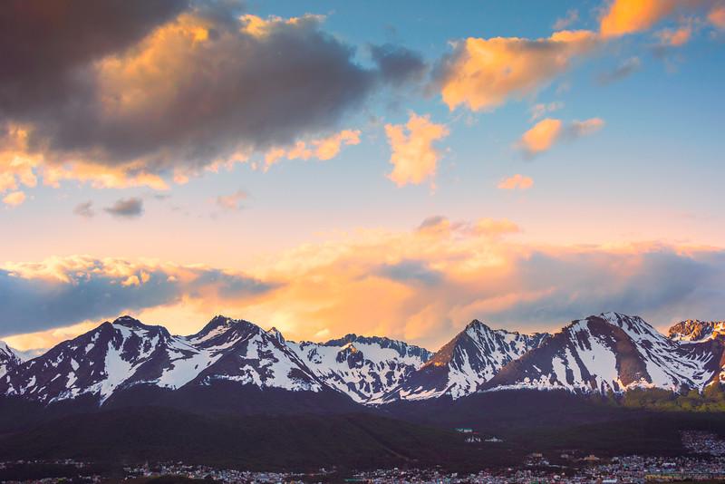 The Martial Range Surrounding Ushuaia