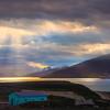 Sunburst Shining Down On Ushuaia
