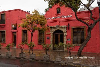 Images from Santiago, Bellavista, street art and mural in Bellavista, Santa Lucia, Museo Nacional de Bellas Artes, Mercado Central market, Vega Central market, Baha Temple