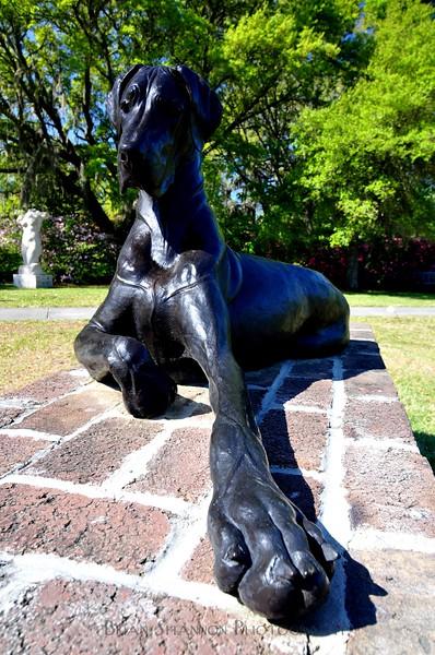 Great Dane statue