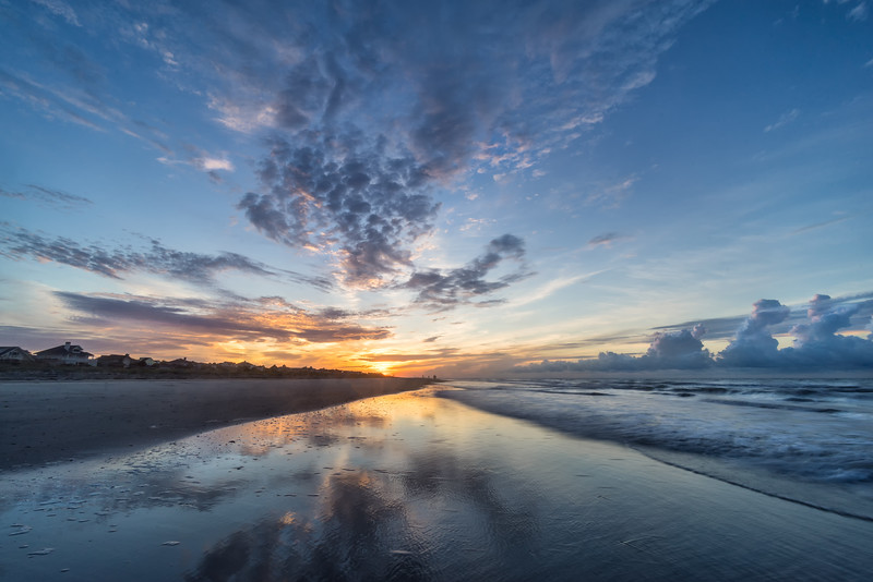 Isle of Palms Sunrise Reflections - South Carolina - Tom Sloan