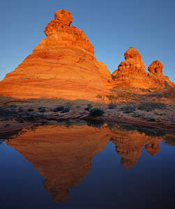 S Coyote Buttes Morning Reflection