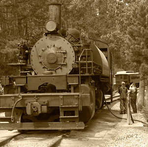 Steam Locomotive 110 in B\W