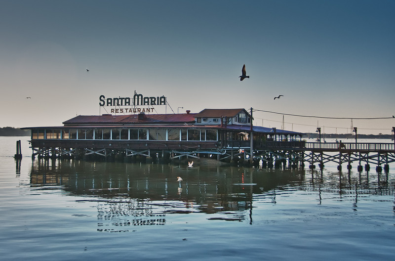 The Santa Maria on the waterways in St. Augustine, Florida.