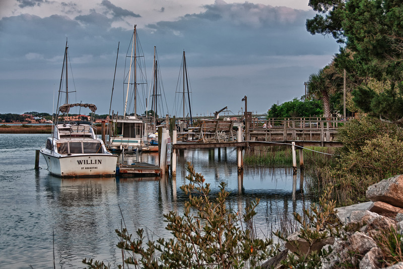 Docks outside of St. Augustine, Florida.