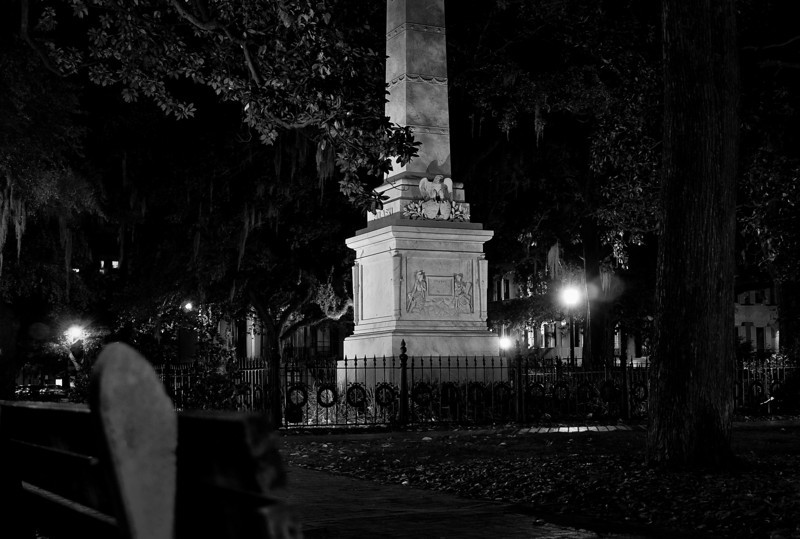 Pulaski monument in historic Savannah, Georgia.