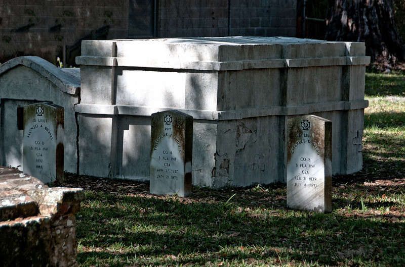 City cemetery from the yellow fever epidemic of the 1820's, St. Augustine, Florida