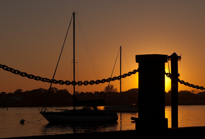 Sunrise on the waterways in St.Augustine, Florida