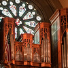 The organ inside the Cathedral of St. John the Baptist church in Savannah, Georgia.