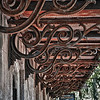 Ironwork detail on a Savannah storefront.