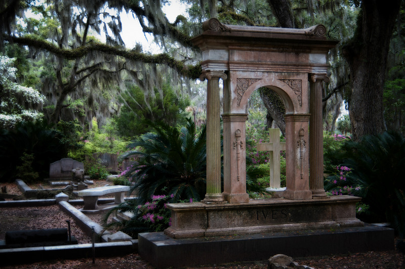 """The extraordinary beauty of the Bonaventure Cemetery, outside of Savannah, Georgia.  Most famous for it's part in the movie, """"Midnight in the Garden of Good and Evil."""""""